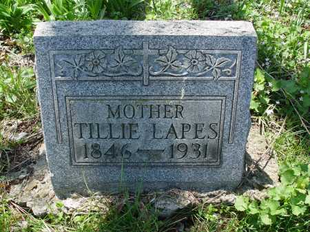 LAPES, TILLIE - Carroll County, Ohio | TILLIE LAPES - Ohio Gravestone Photos