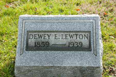 LEWTON, DEWEY ELI - Carroll County, Ohio | DEWEY ELI LEWTON - Ohio Gravestone Photos