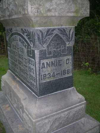 MACK, ANNIE C - Carroll County, Ohio | ANNIE C MACK - Ohio Gravestone Photos