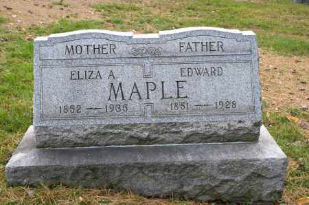 MAPLE, EDWARD - Carroll County, Ohio | EDWARD MAPLE - Ohio Gravestone Photos