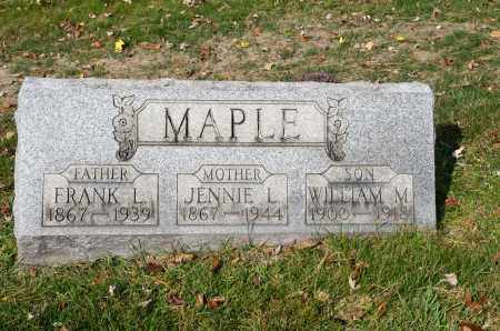 MAPLE, FRANK L. - Carroll County, Ohio | FRANK L. MAPLE - Ohio Gravestone Photos