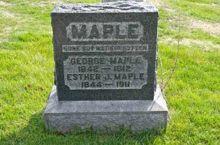 MAPLE, ESTHER JANE - Carroll County, Ohio | ESTHER JANE MAPLE - Ohio Gravestone Photos