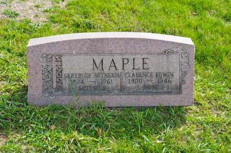 SUTHERIN MAPLE, GERTRUDE - Carroll County, Ohio | GERTRUDE SUTHERIN MAPLE - Ohio Gravestone Photos