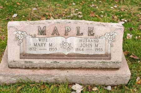 MAPLE, JOHN M. - Carroll County, Ohio | JOHN M. MAPLE - Ohio Gravestone Photos