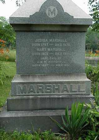 MARSHALL, JANE - Carroll County, Ohio | JANE MARSHALL - Ohio Gravestone Photos