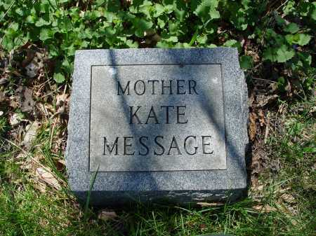 MESSAGE, KATE - Carroll County, Ohio | KATE MESSAGE - Ohio Gravestone Photos