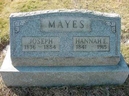 SEATON MAYES, HANNAH E. - Carroll County, Ohio | HANNAH E. SEATON MAYES - Ohio Gravestone Photos
