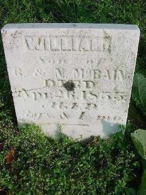 MCBAIN, WILLIAM - Carroll County, Ohio   WILLIAM MCBAIN - Ohio Gravestone Photos