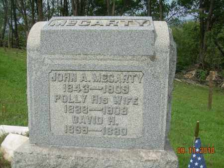 MCCARTY, POLLY - Carroll County, Ohio | POLLY MCCARTY - Ohio Gravestone Photos