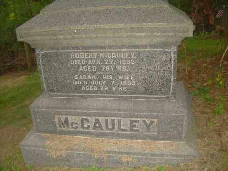 MCCAULEY, SARAH - Carroll County, Ohio | SARAH MCCAULEY - Ohio Gravestone Photos