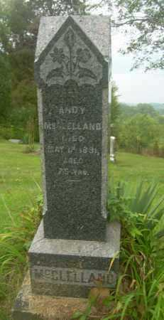 MCCLELLAND, ANDY - Carroll County, Ohio | ANDY MCCLELLAND - Ohio Gravestone Photos