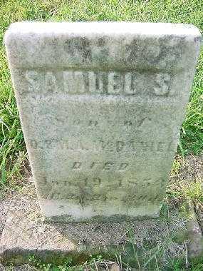 MCDANIEL, SAMUEL S. - Carroll County, Ohio | SAMUEL S. MCDANIEL - Ohio Gravestone Photos