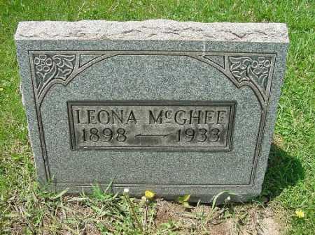 MCGHEE, LEONA - Carroll County, Ohio | LEONA MCGHEE - Ohio Gravestone Photos