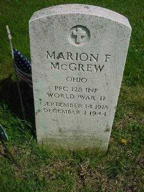 MCGREW, MARION F. - Carroll County, Ohio | MARION F. MCGREW - Ohio Gravestone Photos