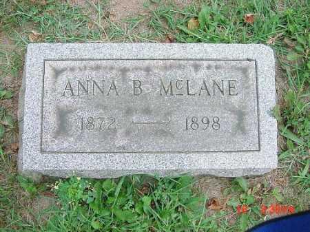 MCLANE, ANNA B. - Carroll County, Ohio | ANNA B. MCLANE - Ohio Gravestone Photos