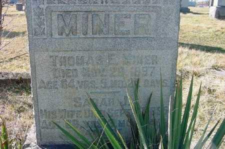 MINER, SARAH J. - Carroll County, Ohio | SARAH J. MINER - Ohio Gravestone Photos