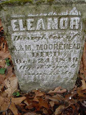 MOOREHEAD, ELEANOR - Carroll County, Ohio | ELEANOR MOOREHEAD - Ohio Gravestone Photos