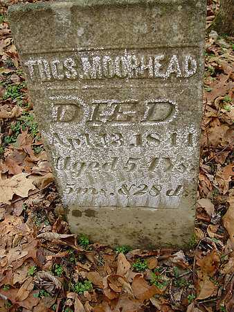 MOOREHEAD, THOMAS - Carroll County, Ohio | THOMAS MOOREHEAD - Ohio Gravestone Photos