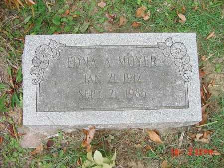 MOYER, EDNA A - Carroll County, Ohio | EDNA A MOYER - Ohio Gravestone Photos