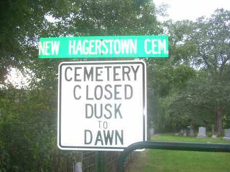 NEW HAGERSTOWN CEMETERY, SIGN - Carroll County, Ohio | SIGN NEW HAGERSTOWN CEMETERY - Ohio Gravestone Photos