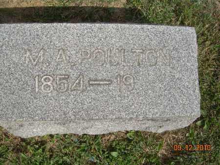 POULTON, MELISSA ANN - Carroll County, Ohio | MELISSA ANN POULTON - Ohio Gravestone Photos
