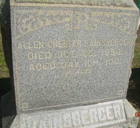 RAINSBERGER, ALLEN CHESTER - Carroll County, Ohio | ALLEN CHESTER RAINSBERGER - Ohio Gravestone Photos