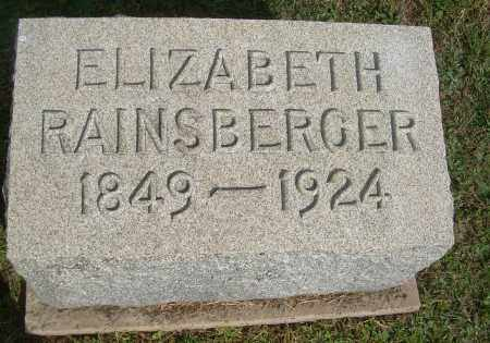 RAINSBERGER, ELIZABETH - Carroll County, Ohio | ELIZABETH RAINSBERGER - Ohio Gravestone Photos
