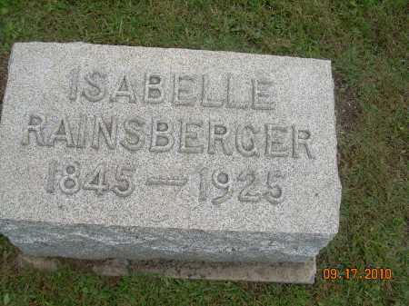 RAINSBERGER, ISABELLE - Carroll County, Ohio | ISABELLE RAINSBERGER - Ohio Gravestone Photos