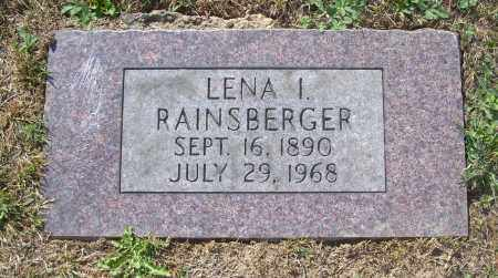 RAINSBERGER, LENA I - Carroll County, Ohio | LENA I RAINSBERGER - Ohio Gravestone Photos
