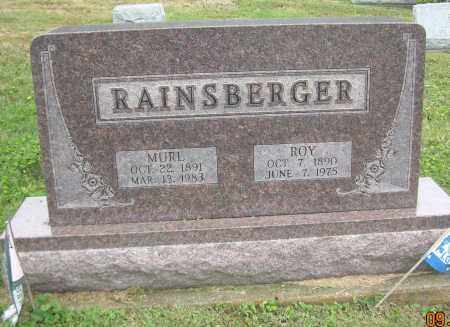 RAINSBERGER, ROY - Carroll County, Ohio | ROY RAINSBERGER - Ohio Gravestone Photos