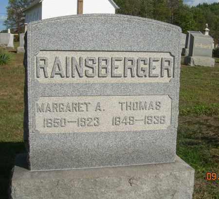 RAINSBERGER, MARGARET A - Carroll County, Ohio | MARGARET A RAINSBERGER - Ohio Gravestone Photos