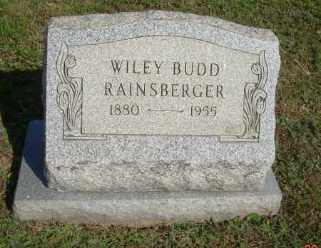 RAINSBERGER, WILEY BUDD - Carroll County, Ohio | WILEY BUDD RAINSBERGER - Ohio Gravestone Photos
