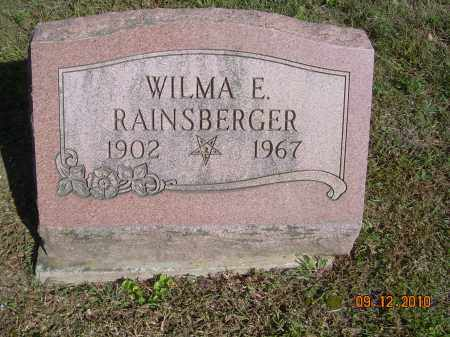 RAINSBERGER, WILMA E - Carroll County, Ohio | WILMA E RAINSBERGER - Ohio Gravestone Photos
