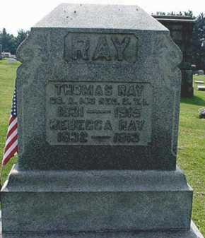 RAY, REBECCA - Carroll County, Ohio | REBECCA RAY - Ohio Gravestone Photos