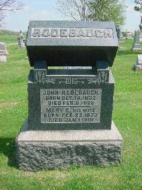 RODEBAUGH, MARY E. - Carroll County, Ohio | MARY E. RODEBAUGH - Ohio Gravestone Photos
