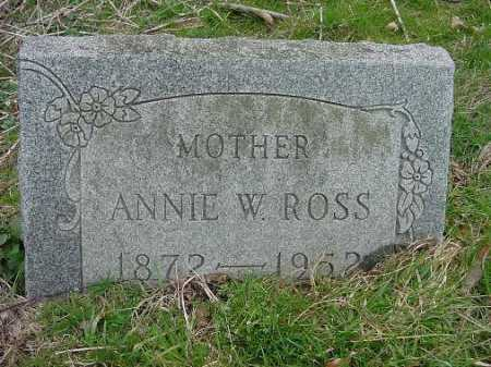 ROSS, ANNIE W. - Carroll County, Ohio | ANNIE W. ROSS - Ohio Gravestone Photos
