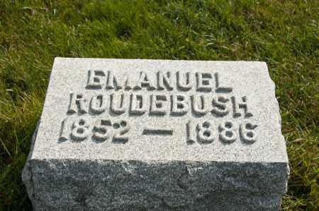 ROUDEBUSH, EMANUEL - Carroll County, Ohio | EMANUEL ROUDEBUSH - Ohio Gravestone Photos