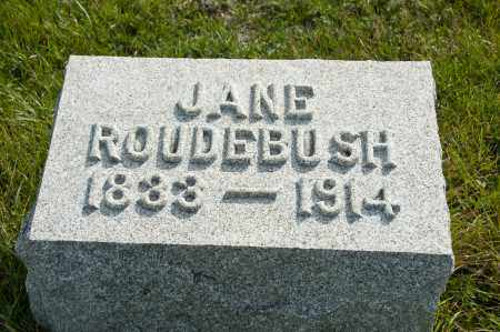 MORGAN ROUDEBUSH, JANE - Carroll County, Ohio | JANE MORGAN ROUDEBUSH - Ohio Gravestone Photos