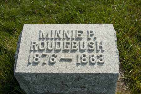 ROUDEBUSH, MINNIE P - Carroll County, Ohio | MINNIE P ROUDEBUSH - Ohio Gravestone Photos