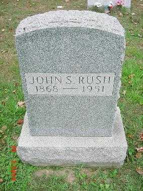 RUSH, JOHN SHERMAN - Carroll County, Ohio | JOHN SHERMAN RUSH - Ohio Gravestone Photos