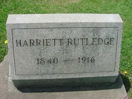 RUTLEDGE, HARRIETT - Carroll County, Ohio | HARRIETT RUTLEDGE - Ohio Gravestone Photos