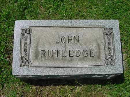 RUTLEDGE, JOHN - Carroll County, Ohio | JOHN RUTLEDGE - Ohio Gravestone Photos