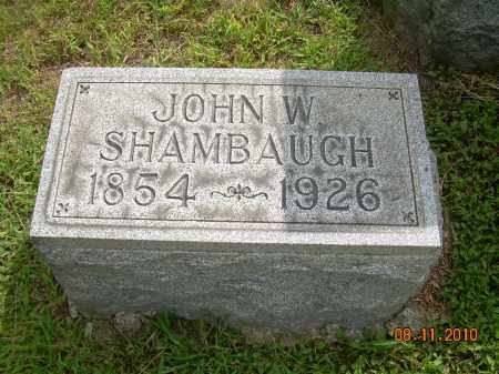 SHAMBAUGH, JOHN W - Carroll County, Ohio | JOHN W SHAMBAUGH - Ohio Gravestone Photos