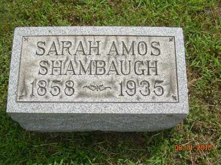 AMOS SHAMBAUGH, SARAH - Carroll County, Ohio | SARAH AMOS SHAMBAUGH - Ohio Gravestone Photos