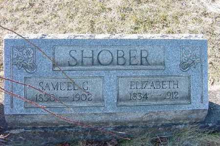 SHOBER, ELIZABETH - Carroll County, Ohio | ELIZABETH SHOBER - Ohio Gravestone Photos