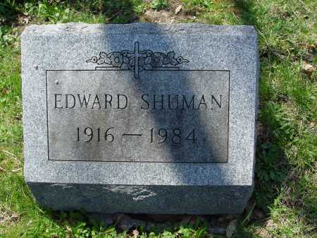 SHUMAN, EDWARD - Carroll County, Ohio | EDWARD SHUMAN - Ohio Gravestone Photos