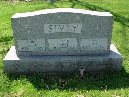 SIVEY, MARY - Carroll County, Ohio | MARY SIVEY - Ohio Gravestone Photos