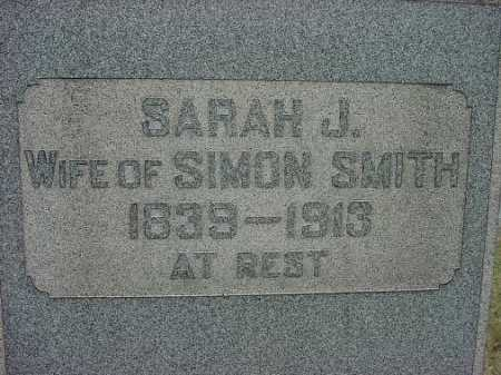 SMITH, SARAH J. - CLOSE VIEW - Carroll County, Ohio | SARAH J. - CLOSE VIEW SMITH - Ohio Gravestone Photos