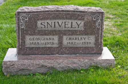 SNIVELY, GEORGIANA - Carroll County, Ohio | GEORGIANA SNIVELY - Ohio Gravestone Photos