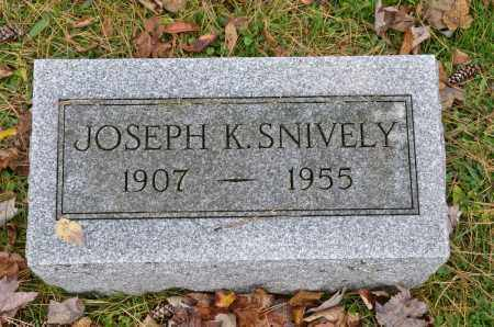 SNIVELY, JOSEPH K. - Carroll County, Ohio | JOSEPH K. SNIVELY - Ohio Gravestone Photos